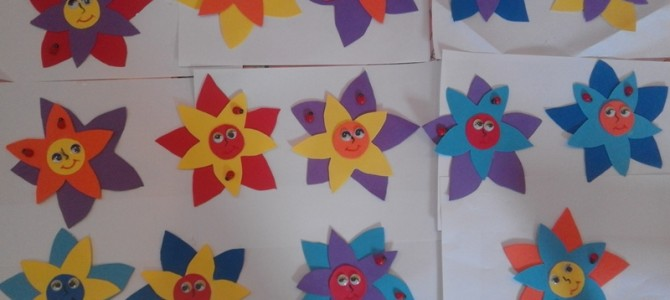 Atelier pentru mama- Floarea magnet