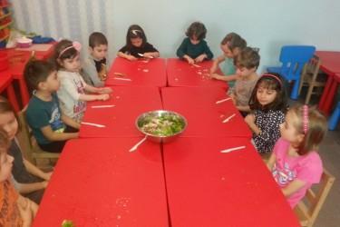 Grupa mare –  Salata cu legume de primavara